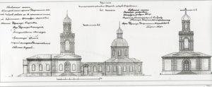 Проект реконструкции церкви св. Николая 1866 г. Арх. Трусов.